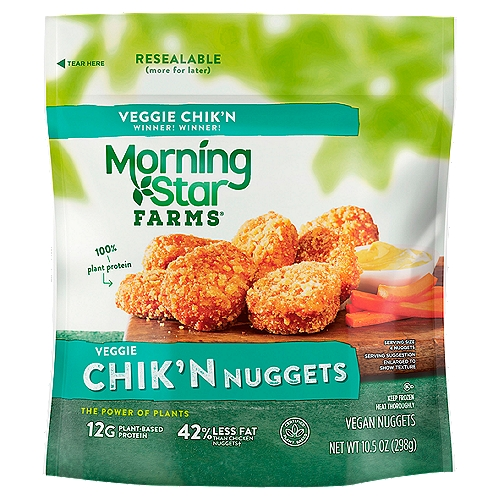 Veggie nuggets with crispy outside resealable