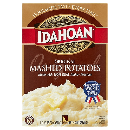 America's favorite mashed potatoes*  *Based in part on IRI sales data, 52 weeks ending 1.27.19