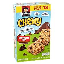 Quaker Chocolate Chip Granola Bars 15.2 Oz 18 Ct, 15.2 Ounce