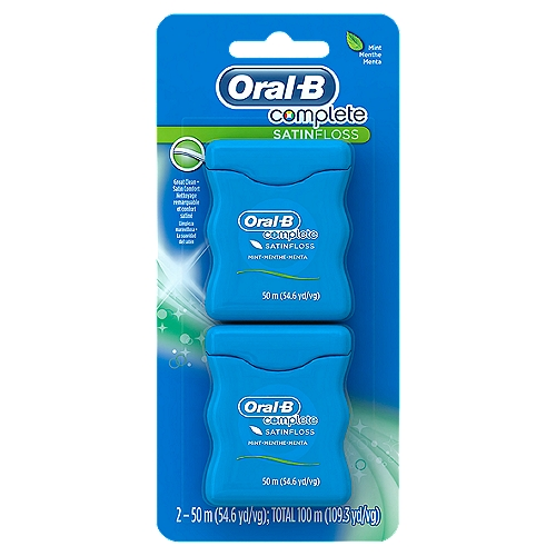 Pack of 2, each 50 M. Floss releases a burst of mint freshness. Helps remove plaque and particles between your teeth and just below the gumline. #1 Dentist Recommended Brand.