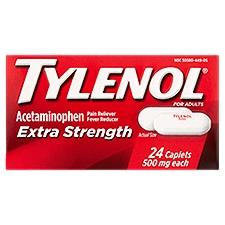 TYLENOL Extra Strength Caplets, 24 Each