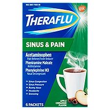 TheraFlu Sinus & Pain Acetaminophen Drink Mix Packets, 6 Each