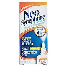 Neo-Synephrine Nasal Spray, Extra Strength Non-Drowsy Cold + Allergy, 0.5 Fluid ounce