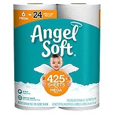 Angel Soft Toliet Paper, 6 Mega Rolls, 2574 Each