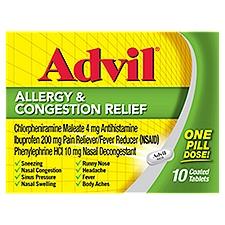 Advil Ibuprofen Allergy & Congestion Relief          , 10 Each