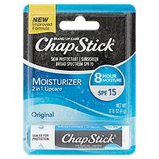 ChapStick Original Flavor Moisturizer Lip Balm Tube SPF 15, 0.15 Ounce