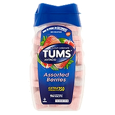 Tums Antacid - Calcium Supplement Chewable Tablets, 96 Each