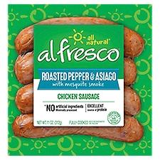 Al Fresco Chicken Sausage Roasted Pepper Asiago, 4 Each