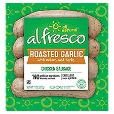 Al Fresco Chicken Sausage Roasted Garlic with Onions & Herbs, 4 Each
