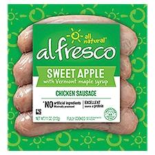 Al Fresco Chicken Sausage Sweet Apple w/ Vermont Maple Syrup, 4 Each