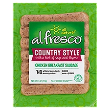 Al Fresco Country Style Chicken Breakfast Sausage, 7.5 Ounce