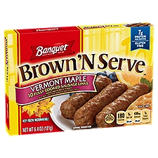Banquet Brown N Serve Maple Sausage Links, 6.4 Ounce