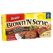 Banquet Brown N Serve Original Patty, 6.4 Ounce