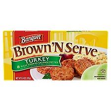 Banquet Brown N Serve Turkey Sausage Patties, 6.4 Ounce