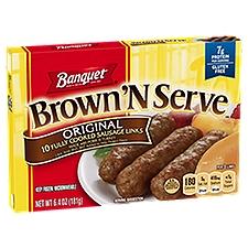 Banquet Brown 'N Serve Original Sausage Links, 6.4 Ounce
