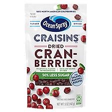 Ocean Spray Reduced Sugar Craisins, 5 Ounce