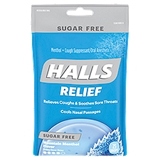 Halls Sugar Free Menthol Cough Suppressant - Oral Anesthetic, 25 Each
