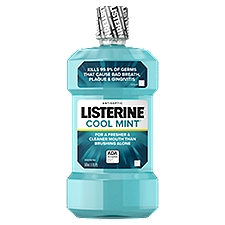 LISTERINE Cool Mint Antiseptic Mouthwash, 16.9 Fluid ounce