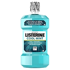 LISTERINE Cool Mint Antiseptic Mouthwash, 50.72 Fluid ounce