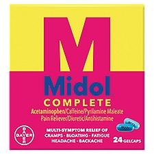 Midol Menstrual Complete - Maximum Strength Gelcaps, 24 Each