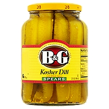 B&G Kosher Dill Spears Pickles with Whole Spices, 32 Fluid ounce