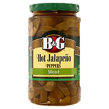 B&G Hot Sliced Jalapeno Peppers, 12 Ounce