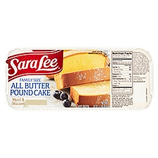 Sara Lee All Butter Pound Cake - Family Size, 1 Pound