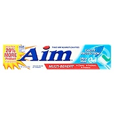 Aim Multi-Benefit Cavity Protection Toothpaste, 5.5 Ounce