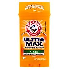 Arm & Hammer Ultra Max Antiperspirant Deodorant - Fresh, 2.8 Ounce
