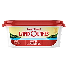 Land O'Lakes Spreadable Butter with Canola Oil, 8 Ounce