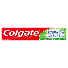 Colgate Sparkling White Whitening Toothpaste, Mint Zing, 6 Ounce