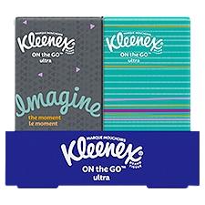 Kleenex Go-Packs Facial Tissues, 8 Each