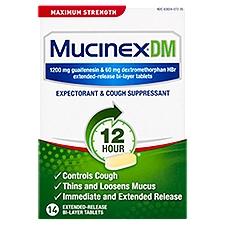 Mucinex Expectorant/Cough Suppressant - Maximum Strength, 14 Each