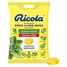 Ricola Sugar Free Lemon Mint Herb Throat Drops, 19 Each