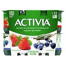 Activia Yogurt Multi-pack - Blueberry & Strawberry, 48 Ounce