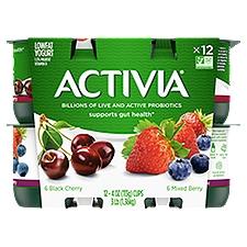 Activia Yogurt Multi-Pack - Cherry & Mixed Berry, 48 Ounce