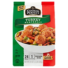 Cooked Perfect Meatballs - Turkey, 24 Ounce