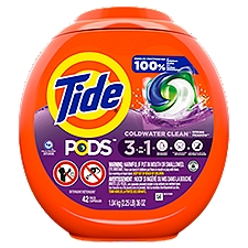 Tide Pods Spring Meadow Scent Liquid Detergent Pacs, 34 Ounce