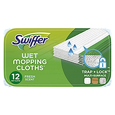 Swiffer Sweeper Wet Mopping Pad Multi Surface Refills, 12 Each