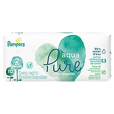Pampers Aqua Pure Sensitive Baby Wipes, 112 Each