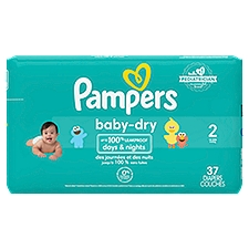 Pampers Baby Dry Diapers Size 2, 37 Each