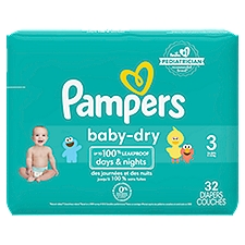 Pampers Baby-Dry Diapers Size 3, 32 Each