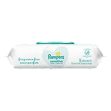 Pampers Sensitive Baby Wipes, 56 Each