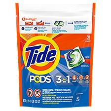 Tide Pods HE Original Scent Liquid Detergent Pacs, 25 Ounce