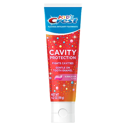 Effective cavity protection in a kid-tested mild gel formula. Gentle on tooth enamel. Children's toothpaste for children and toddlers ages 2+.