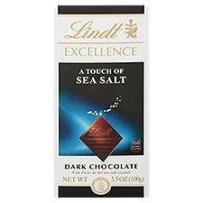 Lindt Excellence Touch of Sea Salt Dark Chocolate, 3.5 Ounce
