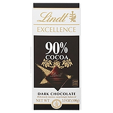 Lindt Cocoa Bar - Excellence 90%, 3 Ounce