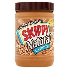 Skippy Natural Creamy Peanut Butter Spread, 26.5 Ounce