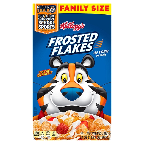 Crispy corn flakes. Family Size.