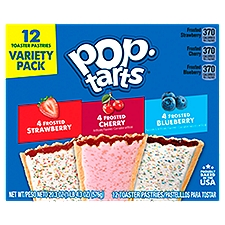 Pop-Tarts Toaster Pastries Strawberry Cherry Blueberry, 12 Each